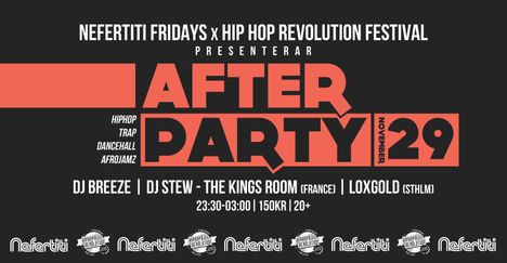 Hiphop revolution festival 2019 Afterparty